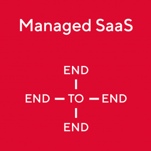 Grafik Managed SaaS End-to-end to Social Media Card